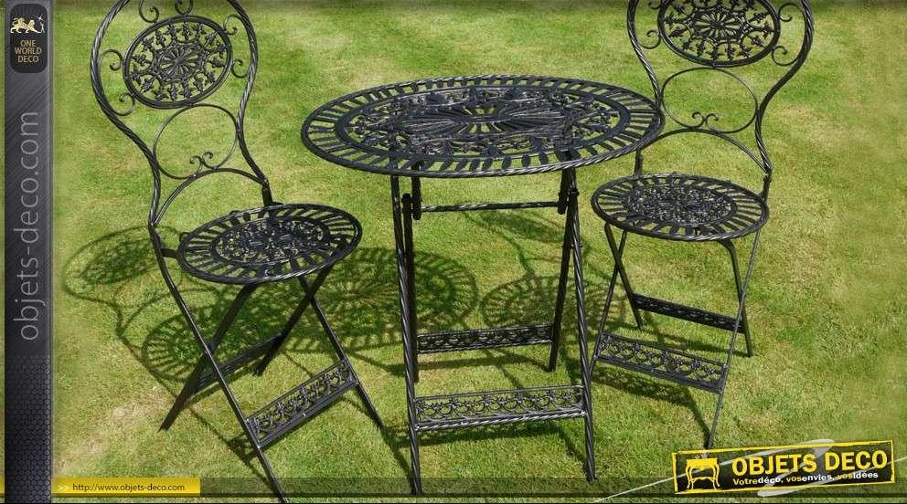 Muebles de jardín en metal y hierro forjado 2 lugares de ...