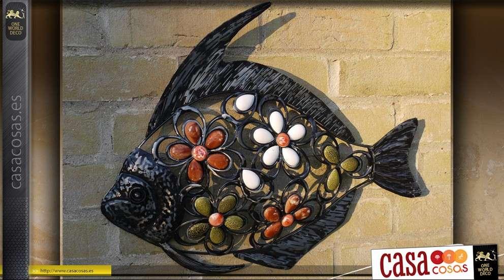 Pescado de decoración de pared de hierro forjado