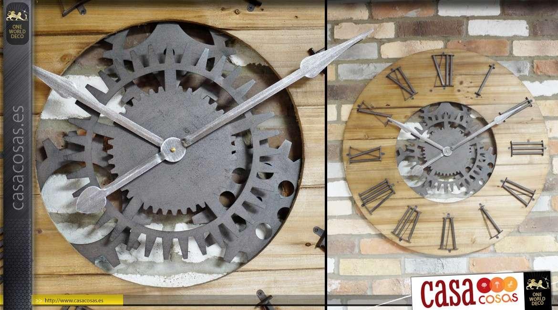 acd99f7f2 Reloj de estilo industrial muy grande con engranajes Ø 80 cm
